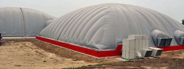 Armazém inflável para grãos