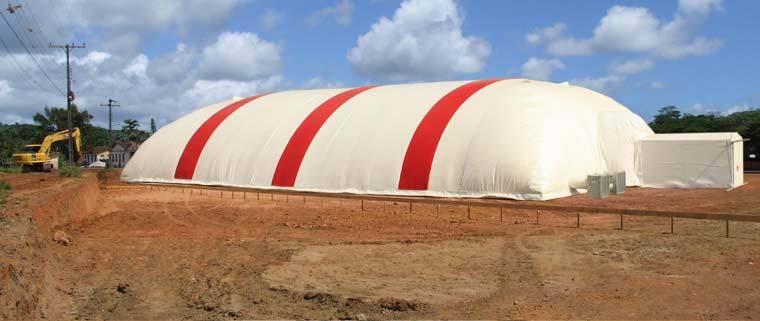 Armazenagem inflável