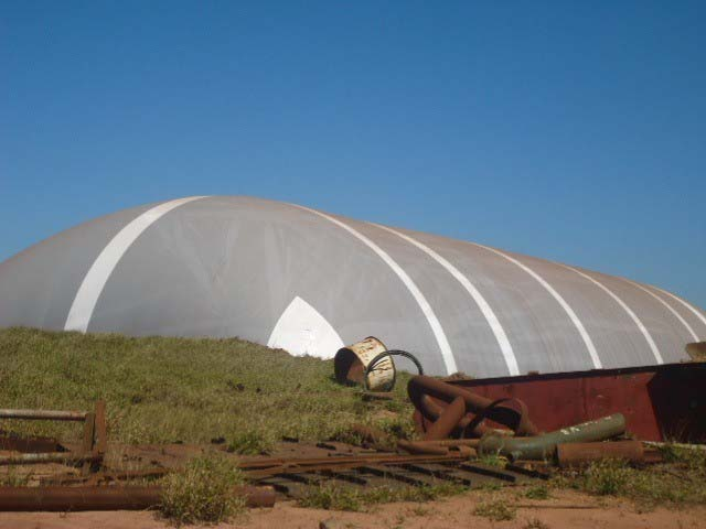 Galpão lona inflável
