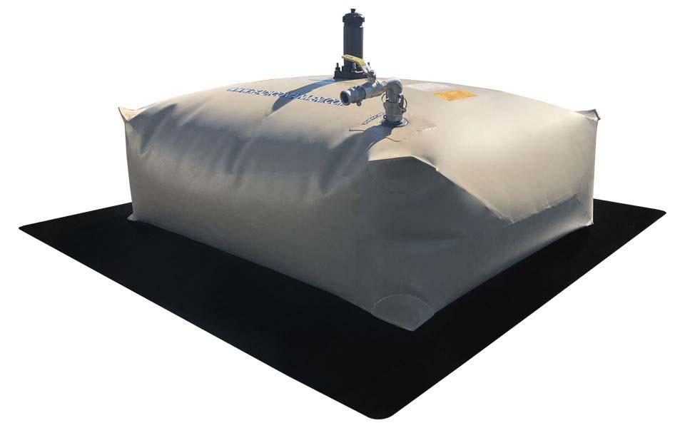 Tanque flexível de lona